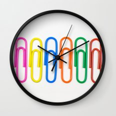 Colorful Paperclips Wall Clock