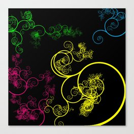 Neon Loopy Canvas Print