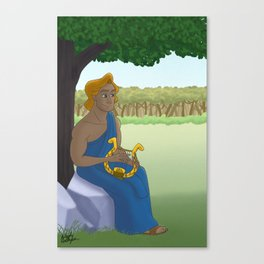 Apollo Playing his Lyre Canvas Print