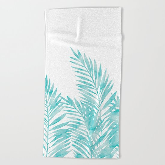 Palm Leaves Island Paradise Beach Towel