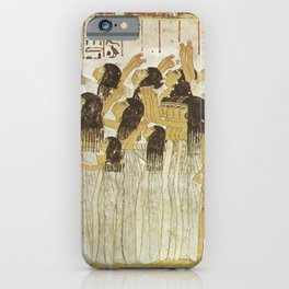 Group of mourners iPhone Case