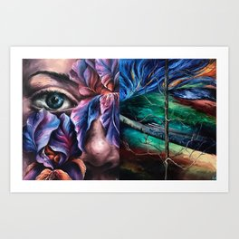 Painting Collage Art Print