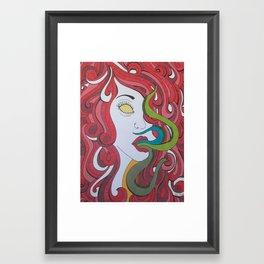 Red Tentacle Girl Framed Art Print