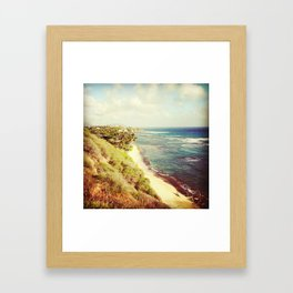 shoreline snapshot Framed Art Print