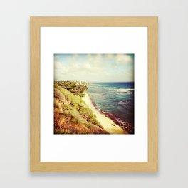 shoreline snapshot Framed Art Print