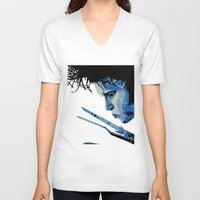 edward scissorhands V-neck T-shirts featuring Edward Scissorhands by OnaVonVerdoux