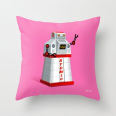 Madame Atomique Throw Pillow