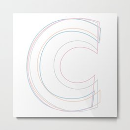 Intertwined Strength and Elegance of the Letter C Metal Print