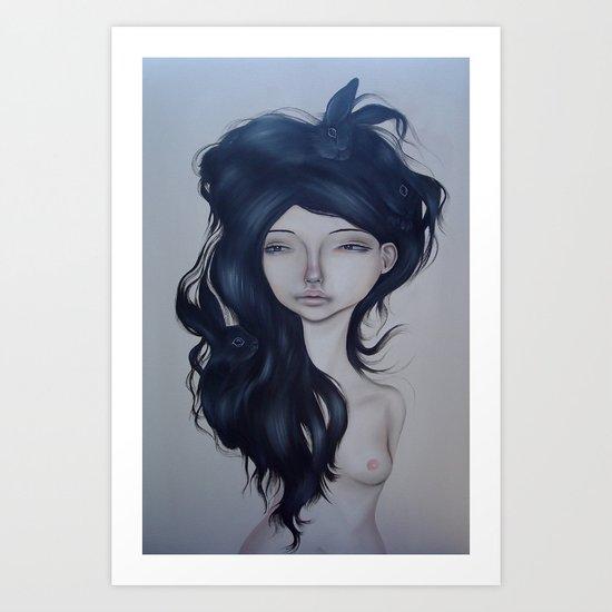 Bunny Hair Art Print