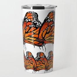 Watercolor Monarch Butterfly in Flight Travel Mug