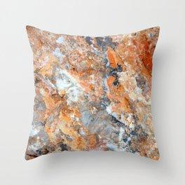Rusty Rock Textures 47 Throw Pillow