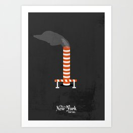 "This is New York for me. ""Steam"" Art Print"