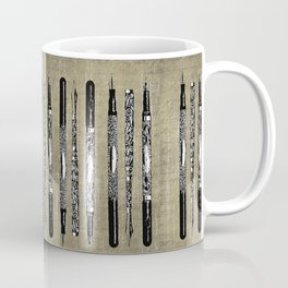 French Paris Fountain Pens Coffee Mug