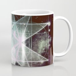 Galaxy Sacred Geometry : Stellated Icoshadron dark Coffee Mug