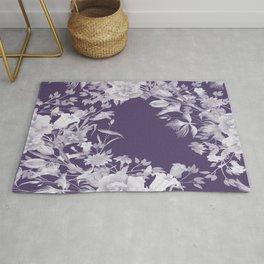 Stardust Violet Indigo Floral Motif Rug