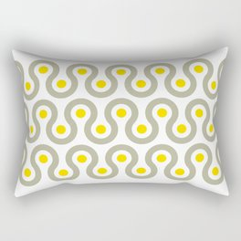 Geometric Pattern #75 (gray yellow wave) Rectangular Pillow