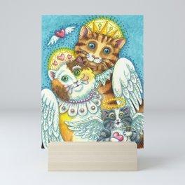 PURRS IN HEAVEN Mini Art Print