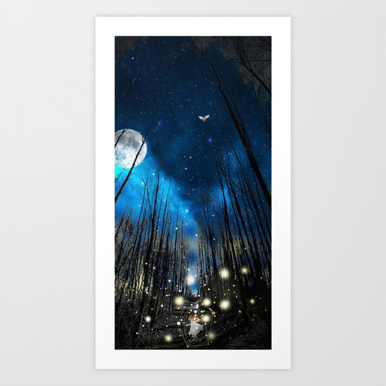 FIREFLIES NIGHT Art Print