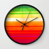 mexican Wall Clocks featuring Mexican Trip by Sophia Buddenhagen