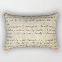 Pride and Prejudice  Vintage Mr. Darcy Proposal by Jane Austen   Rectangular Pillow