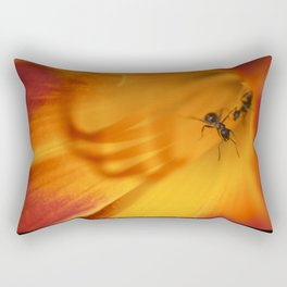 Ants on a Mission Rectangular Pillow