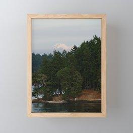 A glimpse at Mount Baker, WA Framed Mini Art Print