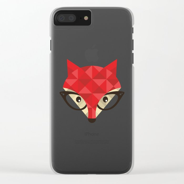 Smart Fox Clear iPhone Case