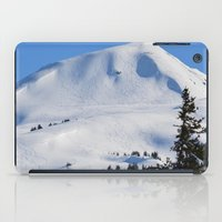 skiing iPad Cases featuring Back-Country Skiing  - III by Alaskan Momma Bear