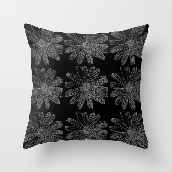 9 Flowers Throw Pillow
