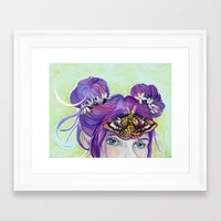 third eye Framed Art Prints featuring Third Eye by Hannah Margaret Illustrations