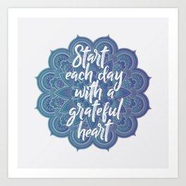 Gratitude Mandala Art Print
