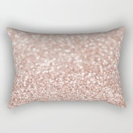 Sparkling Rose Gold Blush Glitter #2 #shiny #decor #art #society6 Rectangular Pillow