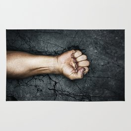 Protest fist Rug