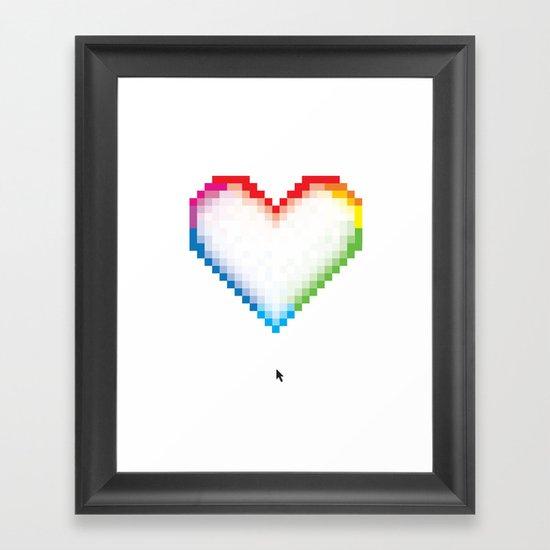 Pixel Love Framed Art Print