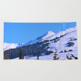 Back-Country Skiing  - IV Beach Towel