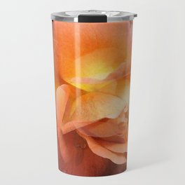Rose With Dew Abstract Travel Mug