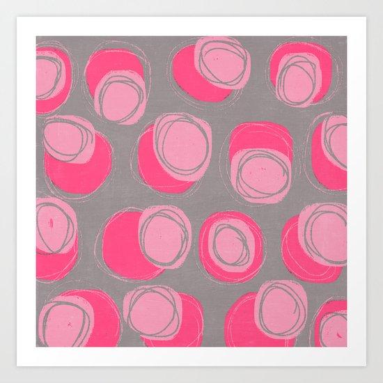 pink stones Art Print