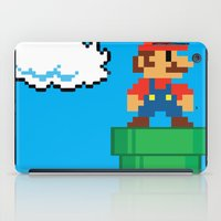 mario bros iPad Cases featuring Mario Bros by WaXaVeJu