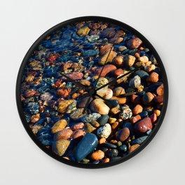 Lake Superior Rocks Wall Clock