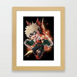 BNHA - Bakugou Katsuki chibi [BLACKBG] Framed Art Print