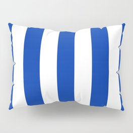 International Klein Blue - solid color - white vertical lines pattern Pillow Sham