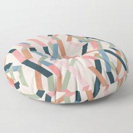 Straight Geometry Ribbons 1 Floor Pillow