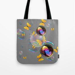SURREAL YELLOW BUTTERFLIES & SOAP BUBBLES Tote Bag
