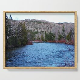 River in Nature Serving Tray
