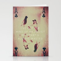 wasted rita Stationery Cards featuring Wasted  by The Visual Poet