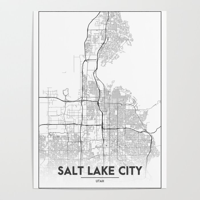 Minimal City Maps - Map Of Salt Lake City, Utah, United States Poster on new england on state map, florida on state map, georgia on state map, maryland on state map, grand canyon national park on state map, burlington on state map, cleveland on state map, auburn on state map, thornton on state map, mount rushmore on state map, arizona on state map, charlotte on state map, montgomery on state map, fayetteville on state map, montana on state map, memphis on state map, baton rouge on state map, rochester on state map, alaska on state map, fresno on state map,