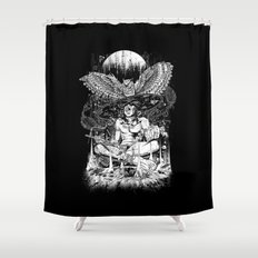 Spirit Owl Shower Curtain