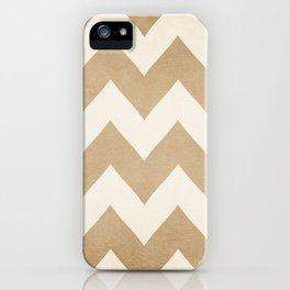 Biscotti & Vanilla - Beige Chevron iPhone Case