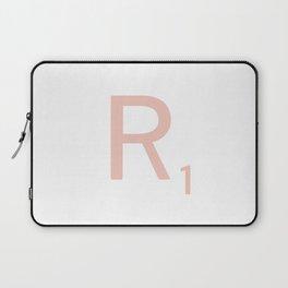 Pink Scrabble Letter R - Scrabble Tile Art and Accessories Laptop Sleeve