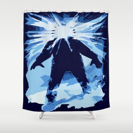 Man is the warmest place to hide ... Shower Curtain